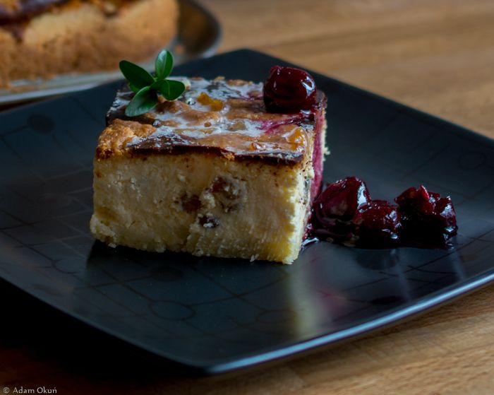 Cracow delicious cheesecake. Sweet miracle from Poland