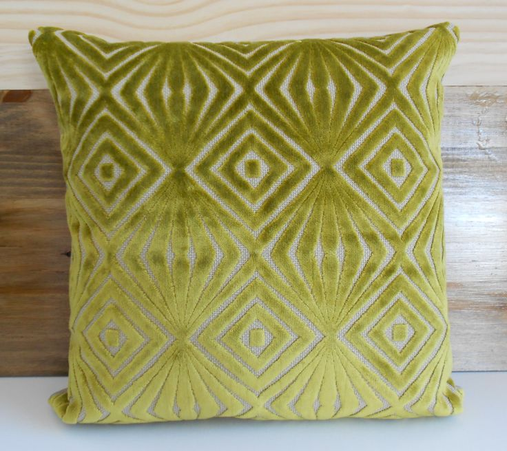 Green Geometric Throw Pillow : Both sides, Decorative pillow cover, Green geometric velvet throw pillow Pillow covers, Dots ...