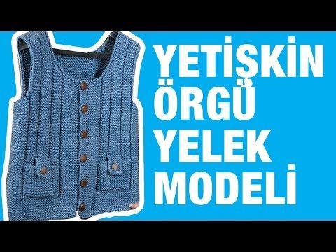 Yoğun istek üzerine, Örgü Erkek Yelek Modeli - Örgü Modelleri - YouTube