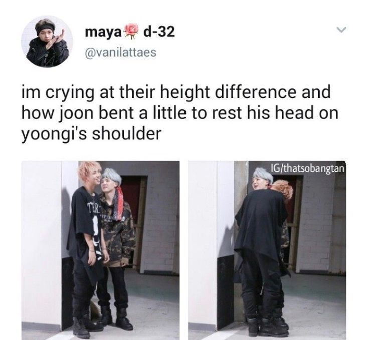Aww the height difference <<  aww their so cute i love on how comfortable bangtan is with each other ❤❤