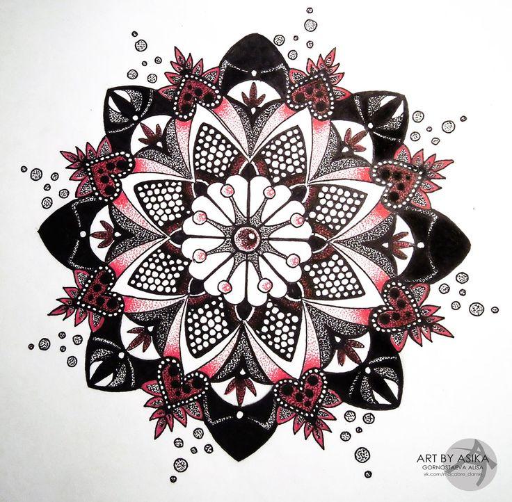 Mandala, dotwork. Tattoo sketch. by AsikaArt.deviantart.com on @deviantART