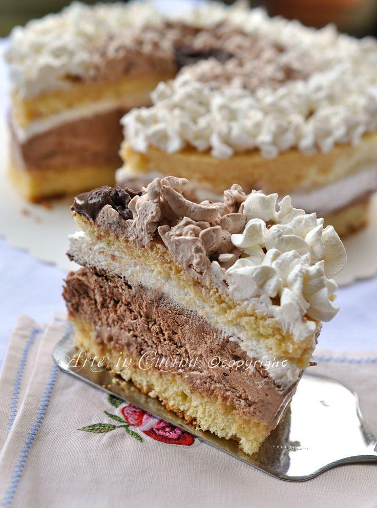Abbraccio di venere torta alla nutella e cioccolato ricetta arte in cucina