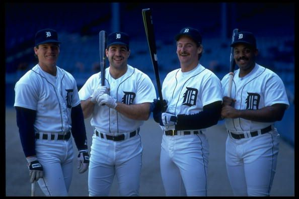 Detroit Tigers Mickey Tettleton, Pete Incaviglia, Rob Deer & Cecil Fielder