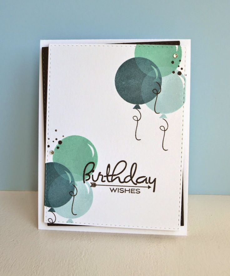 K and R Designs: Masculine birthday card. PTI birthday style