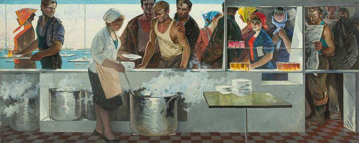 Данциг Май Вольфович [1930] В рабочей столовой. 1963
