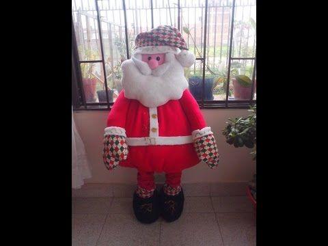Como Hacer Un Papa Noel Parado - YouTube