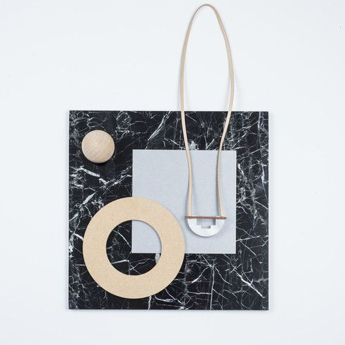 Rill Rill Necklace No 3 White Marble | nana & bird - Only Curating What We Love