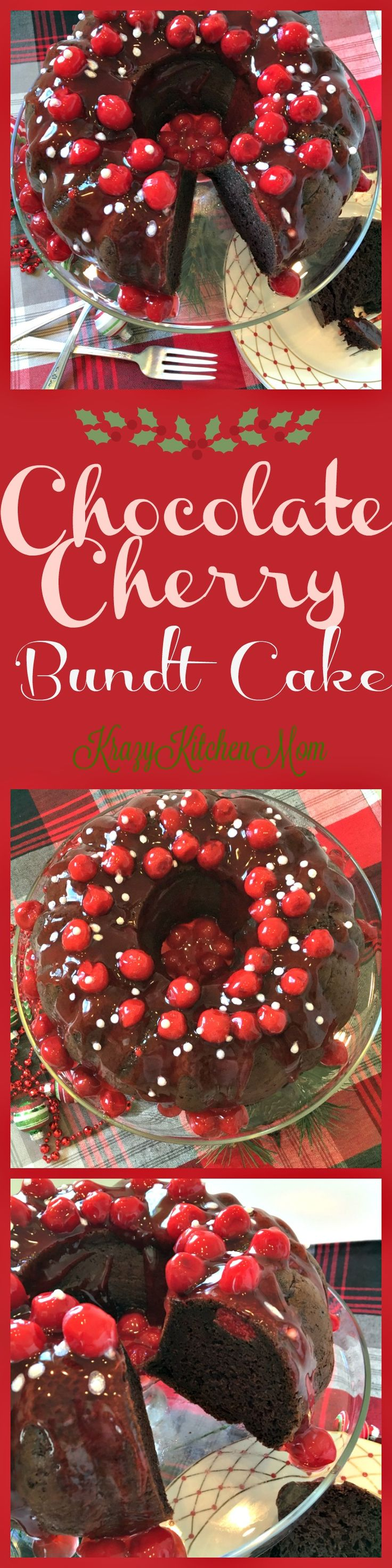 Chocolate Cherry Bundt Cake - http://www.krazykitchenmom.com/2016/11/chocolate-cherry-bundt-cake/?utm_campaign=coschedule&utm_source=pinterest&utm_medium=Krazykitchenmom&utm_content=Chocolate%20Cherry%20Bundt%20Cake