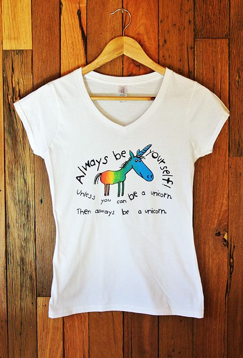 Ladies T-Shirt Unicorn