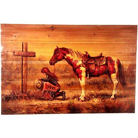 Western Home Decor | Cowgirl Praying Rustic Wood Monstermarketplace :Bathroom  Decorating .