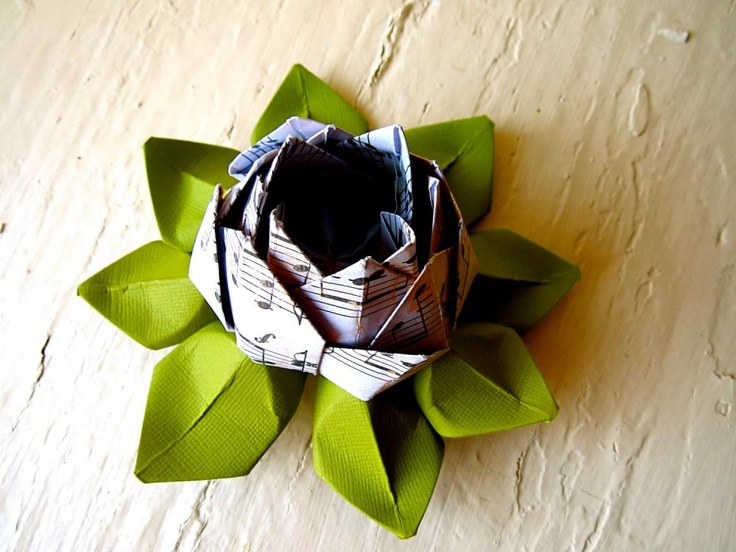 25 best ideas about paper lotus on pinterest crepe for Diy paper lotus candlestick
