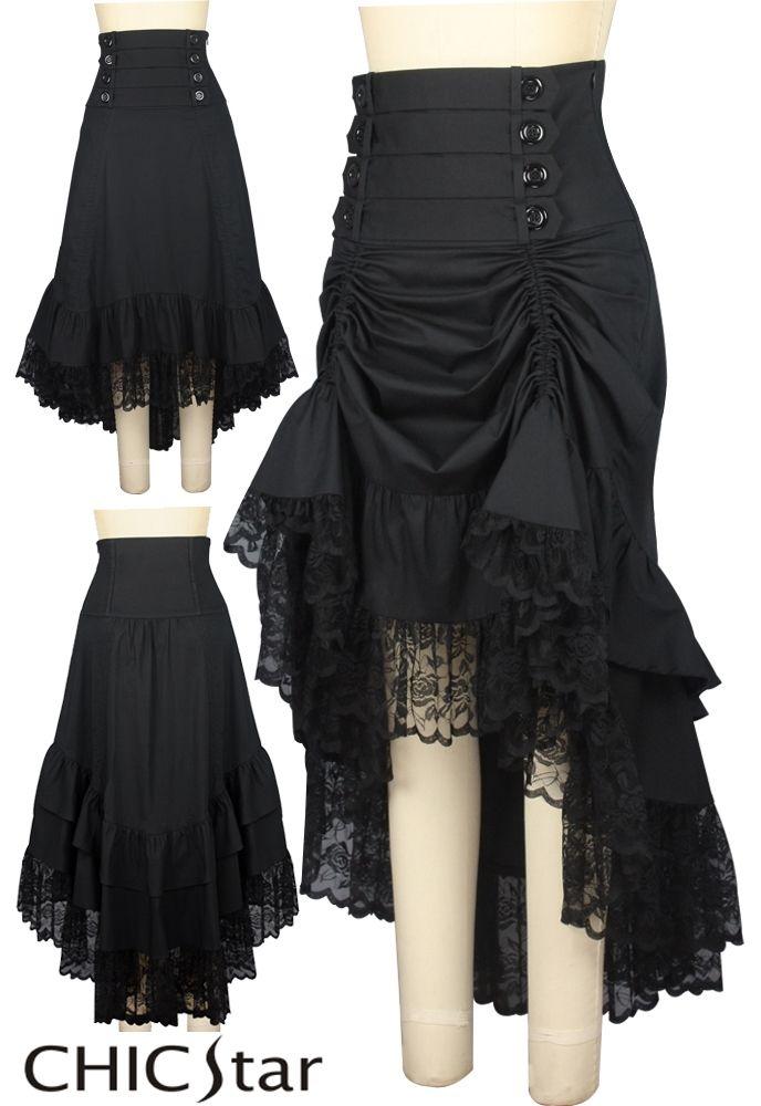 Chic Star | Victorian Steampunk Adjustable Length Skirt $52.00 - Plus size $56.00 Designed by Amber Middaugh and Cecilia Estevez Estevez