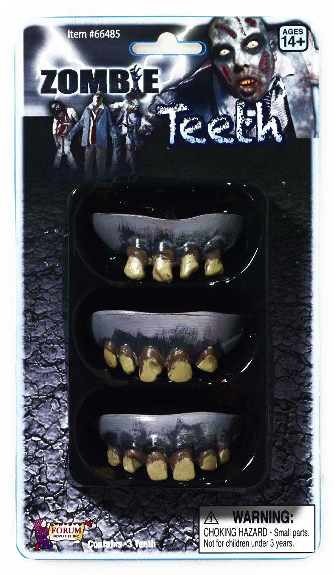 Zombie Prosthetic Teeth Costume Accessory - Set of 3