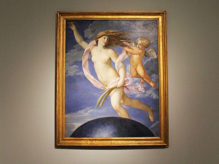 Olio su tela, di Guido Reni, 1637 circa. Attorno al 1637 il pittore bolognese Guido Reni (Bologna 1575-1642) dipinse due diverse versioni di questa allegoria della Fortuna, in una delle quali la Fo…