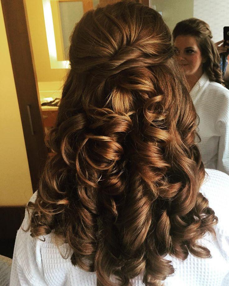 half up half down with big curls! Prom