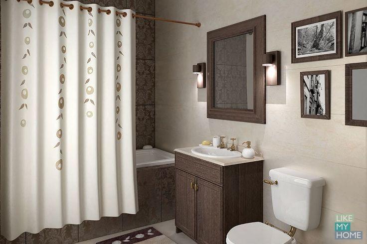 WESS Grinalda - занавеска для ванной комнаты из ткани 200x200 см. Цена 2900р. Посмотреть на сайте: http://likemyhome.ru/catalog/shtorki-karnizy-kolca/00003156 #likemyhome #showercurtain #bathroomdecor #interiorstyle #wess #grinalda