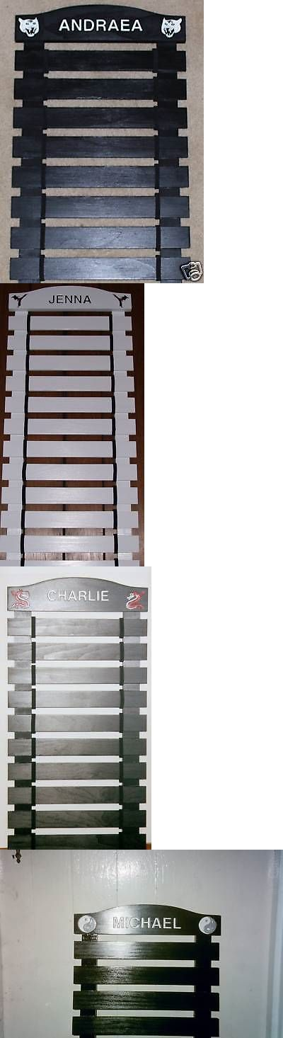 Belt Displays 179768: Custom Black Painted Karate Belt Display Rack 7 Slats -> BUY IT NOW ONLY: $75 on eBay!