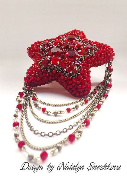 """Броши ручной работы. Ярмарка Мастеров - ручная работа Брошь """"RED STAR"""". Handmade."""