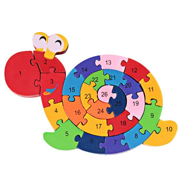 Juguetes de madera para Niños Rompecabezas 3D De Madera Juego de Tetris Educativos Brinquedo Madeira Niños Jjigsaw Sinuoso Caracol Rompecabezas Del Juguete