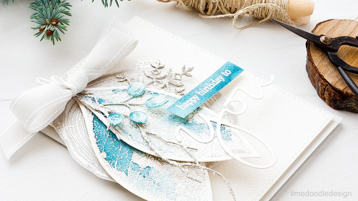 Frosty Winter Leaves http://limedoodledesign.com/2016/10/frosty-winter-leaves/