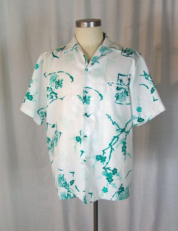 1950s Men's Hawaiian Shirt by GraciesVintageShoppe on Etsy
