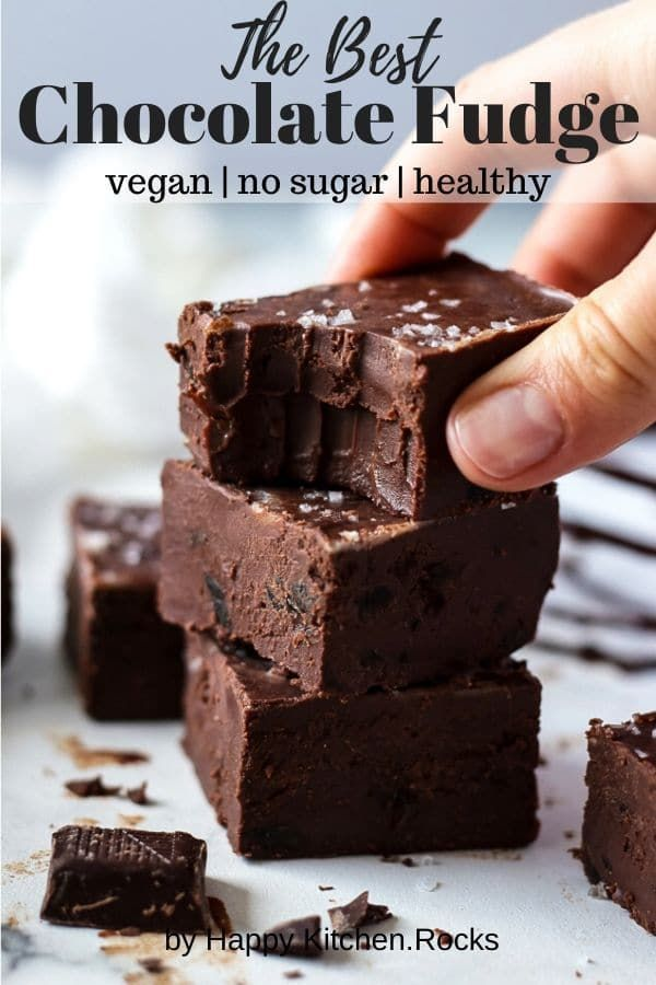 This Sweet And Gooey Chocolate Fudge Recipe Is Made Without Condensed Milk Or Sugar And Is 100 Guilt Free V Fudge Recipes Chocolate Fudge Recipes Vegan Fudge
