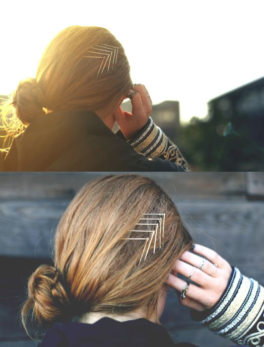 We love this super simple DIY hair accessory tutorial with bobby pins