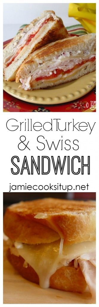 Turkey and Swiss Sandwich from Jamie Cooks It Up! This sandwich ...