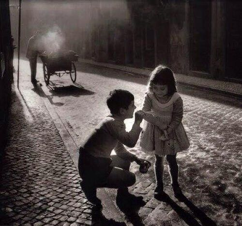 Kids playing on the streets of Lisbon Portugal. By Eduardo Gageiro 1969