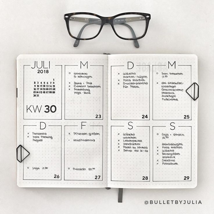 Minimalist Bullet Journal spreads are great for bu…