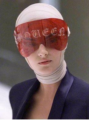 McQueen visor in red acrylic