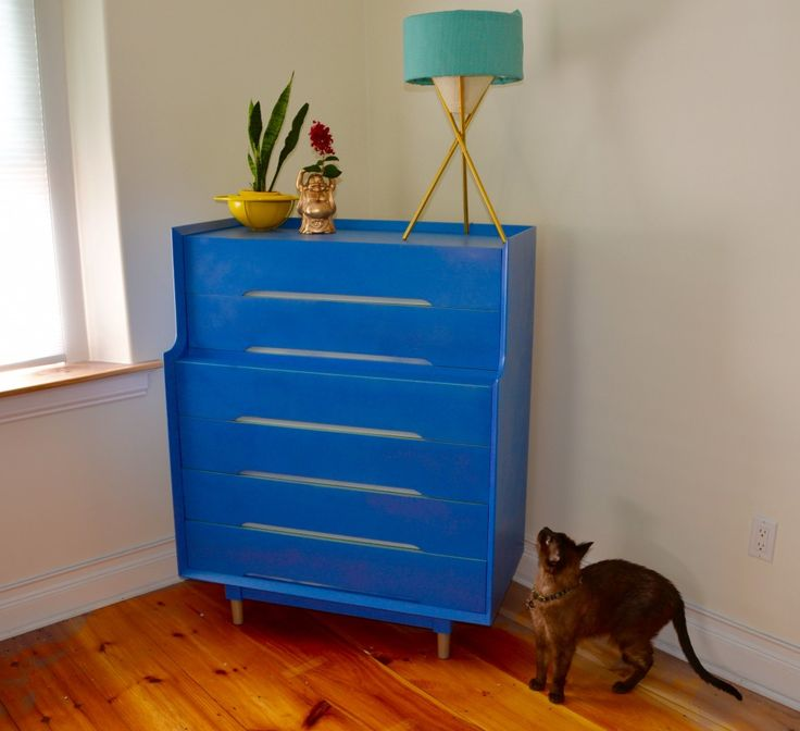 Transform a dresser from Habitat for Humanity's ReStore in just an after with Krylon spray paint. @krylonbrand