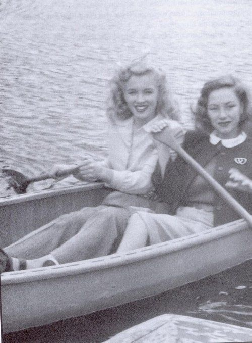 Marilyn photographed with another extra in Scudda Hoo! Scudda Hay!, 1948.