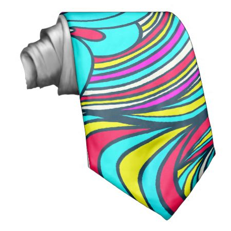 A Colorful Abstract Floral Pattern Custom Ties