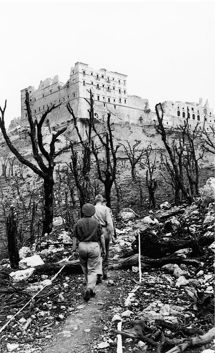 The Battle of Monte Cassino (January 1944-May 1945) was a series of battles during the Italian campaign. The Allies struggled to capture the western anchor of the Gustav Line and the Roman Catholic abbey of Monte Cassino. Three failed offensives resulted in the destruction of the abbey as aerial bombardment of the region, failed to produce the desired result. Finally, in May 1944, the Gustav Line collapsed, with the Second Polish Corps succeeding in capturing the abbey.