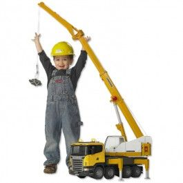 Bruder Scania R Series Liebherr Toy Crane Truck - Educational Toys Planet. Great gift for 3 years old child. When the Bruder toy crane boom is fully raised, it is 50 inches high and will tower above some of the little builders. Develops Skills - pretend play, imagination, manipulative skills. #toys #learning #educational #gifts #child https://www.educationaltoysplanet.com/bruder-scania-r-series-liebherr-toy-crane-truck.html