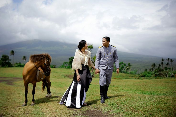 Prenup pictures for our Filipiniana themed wedding. My husband wears the outfit of Heneral Luna while mine is Maria Clara inspired.