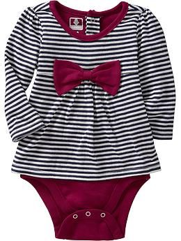 Striped 2-in-1 Bodysuits for Baby (Old Navy nb-24m)