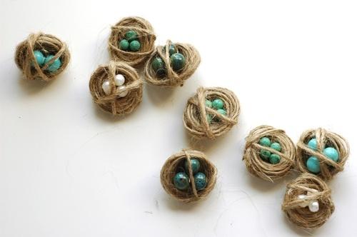 birds nest pins: Beads Nests, Birds 8217 Nests, Birds Nests, Little Birds, Beads Birds, Bird Nests, Minis Birds, Jute Crafts, Beads Eggs