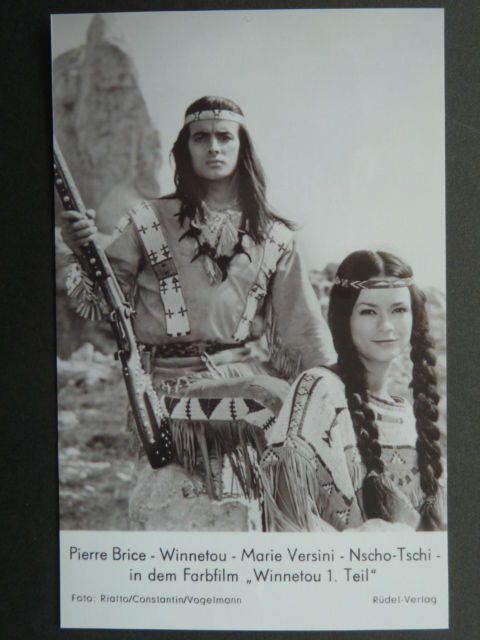 ".Karl May (Rüdel Kartenmotiv) Brice / Marie Versini ""Winnetou 1"" - Foto (KM19s) | eBay"