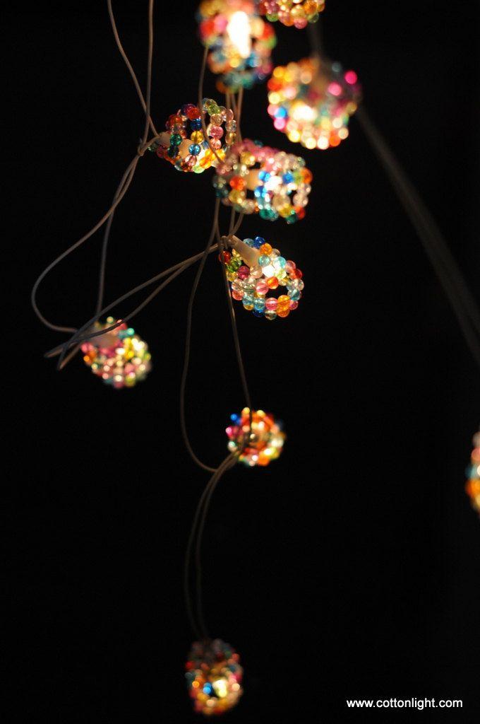 20 Bead Garland String Light Patio Hanging Indoor Outdoor Light Decor  Wedding Party Home Living.