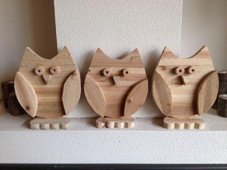 Uiltjes gemaakt van pallet #hout.