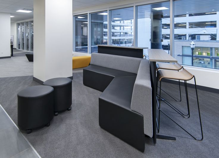 Office lounges by Jonathan Morgan & Company