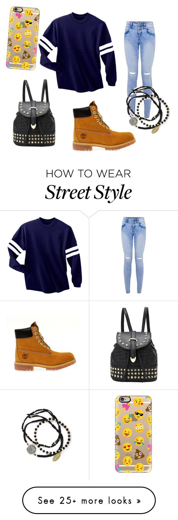 """Casual street style"" by acswagprincess on Polyvore featuring Timberland, Feather & Stone and Casetify"