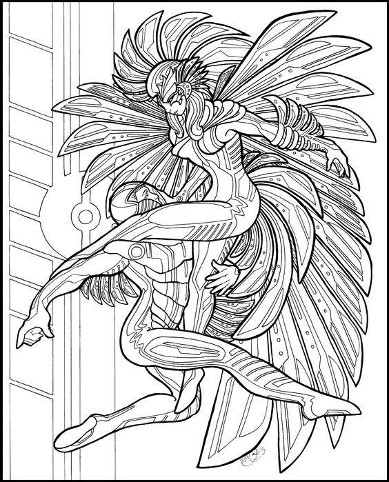 TRON Firebird Lineart By On