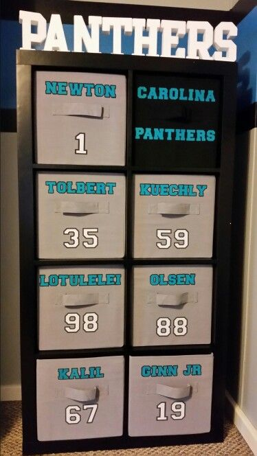 Gibson's Carolina Panthers cube storage