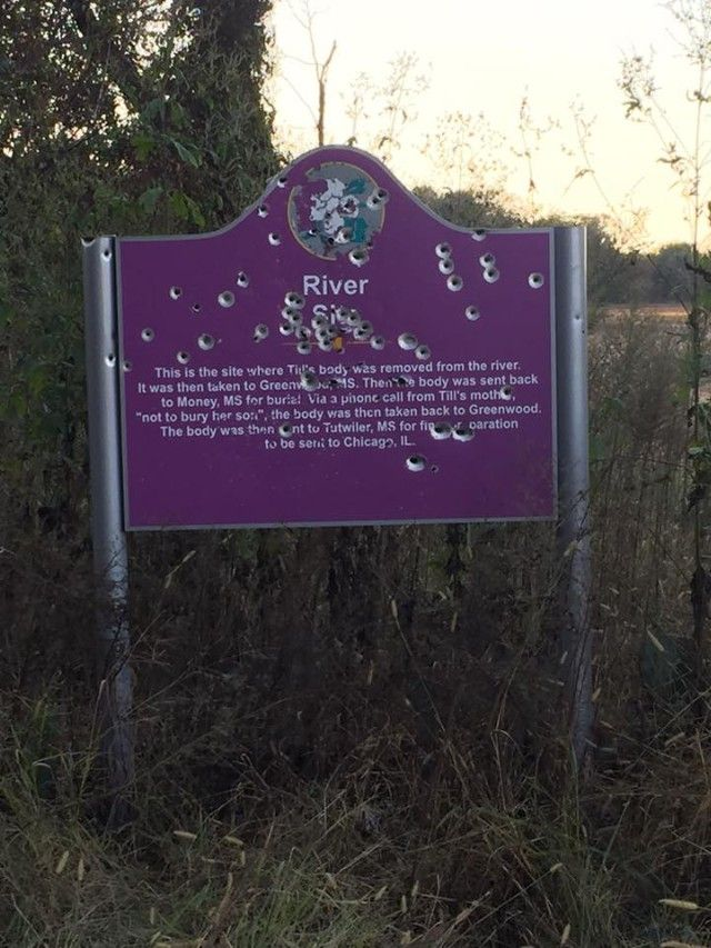 emmett till dead money mississippi emmett till and  emmett till memorial sign the sign that marks where emmett till was found has been