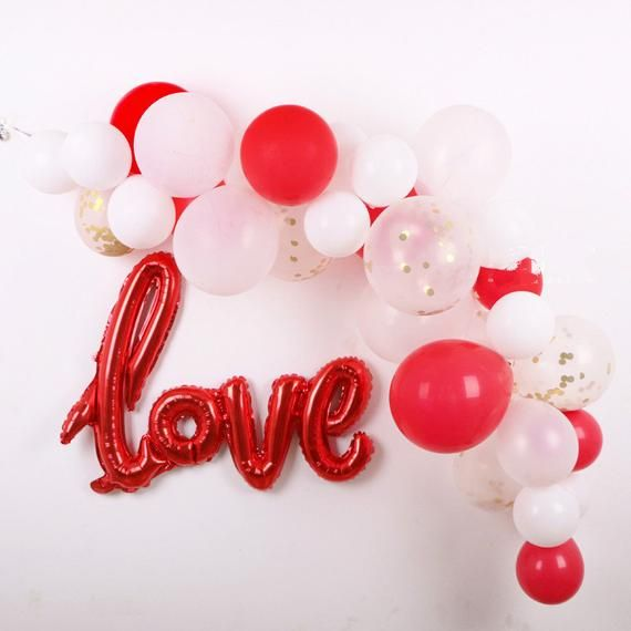 Valentine S Day Decor Red Balloon Garland Etsy Valentines Party Decor Red Party Decorations Valentines Party