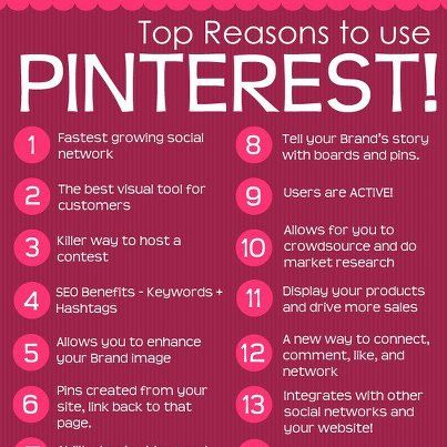 I like the irony of pinning a reasons to use Pinterest info-graphic on Pinterest