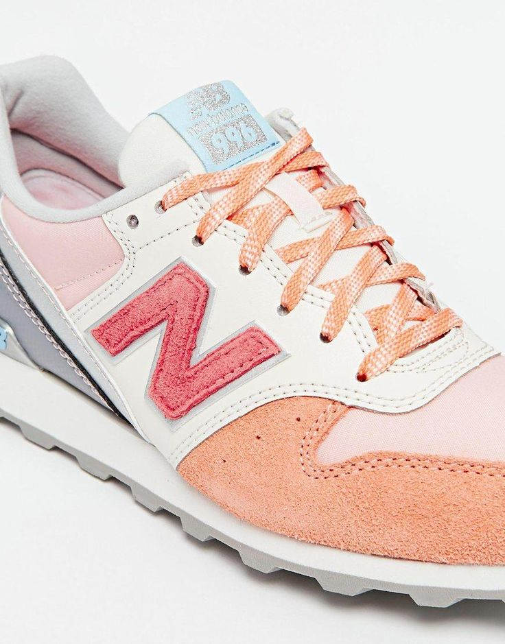 New Balance | New Balance 996 Orange Leather/Suede Sneakers at ASOS http://www.95gallery.com/